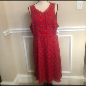 Red Sleeveless Dress - A-Line Size 16 by D.I.P NWT